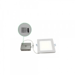"""13W 4"""" Square Slim Downlight, Dimmable, 715 lm, 5000K"""