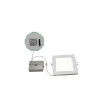 """16W 6"""" Square Slim Downlight, Dimmable, 900 lm, 5000K"""