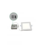 """20W 8"""" Square Slim Downlight, Dimmable, 1200 lm, 5000K"""
