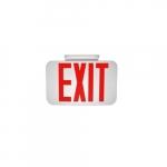 2W Emergency Exit Sign, 120V-277V, Red