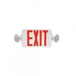 4W Emergency Exit Sign, 120V-277V, Red
