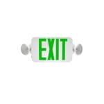3W Emergency Exit Sign, 120V-277V, Green
