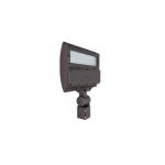 54W LED Flood Light w/ Slipfitter Mount & Photocell, Dim, Wide, 5000K, Bronze