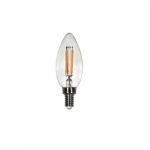 4W LED Filament B10 Bulb, 40W Inc. Retrofit, Dim, E12, 300 lm, 120V, 2700K