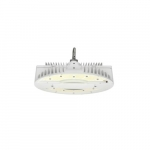 130W LED Round High Bay Pendant w/ Battery Backup, Dim, 19325 lm, 4000K, White