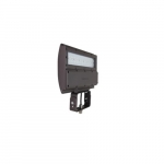 80W LED Flood Light w/ Slipfitter Mount, Dimmable, Wide, 3201 lm, 4000K, Bronze