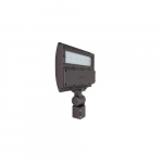 55W LED Flood Light w/ Slipfitter Mount, Dimmable, 6705 lm, 4000K, Bronze