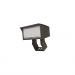 50W LED Medium Flood Light w/ Trunnion Mount, Dim, Wide, 6900 lm, 4000K, Bronze