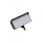 50W LED Medium Flood Light w/ Knuckle Mount, Dim, Narrow, 6900 lm, 5000K, Bronze