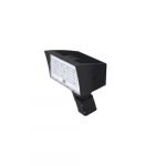 50W LED Medium Flood Light w/ Slipfitter Mount, Dim, Narrow, 6900 lm, 5000K, Bronze
