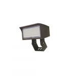 50W LED Medium Flood Light w/ Trunnion Mount, Dim, Narrow, 6900 lm, 5000K, Bronze