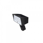 50W LED Medium Flood Light w/ Slipfitter Mount, Dim, Wide, 6900 lm, 5000K, Bronze