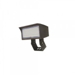 50W LED Medium Flood Light w/ Trunnion Mount, Dim, Wide, 6900 lm, 5000K, Bronze