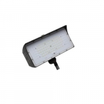 80W LED Medium Flood Light w/ Knuckle Mount, Dim, 9900 lm, 4000K, Bronze