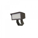 80W LED Medium Flood Light w/ Trunnion Mount, Dim, 9900 lm, 4000K, Bronze