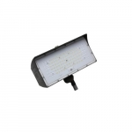 80W LED Medium Flood Light w/ Knuckle Mount, Dim, Wide, 9900 lm, 4000K, Bronze