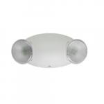 .6W LED Emergency Light, 2 Heads, Self Diagnostic, 120V-277V, White