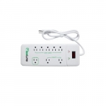 15 Amp 8-Outlet Advanced Surge Protector Power Strip, 1875W, White