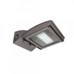 28W LED Wall Light, 175W MH Retrofit, Type III, 3200 lm, 120V-277V, 4000K, Silver
