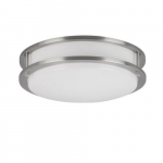 12-in 16W LED Flush Mount, Triac Dimming, 120V, Selectable CCT