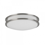 14-in 20W LED Flush Mount, Triac Dimming, 120V, Selectable CCT