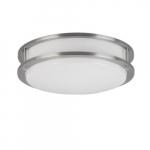 12-in 16W LED Flush Mount, 0-10V Dimming, 120V-27V, Selectable CCT
