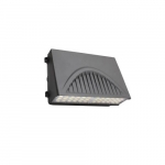 100W Full Cut-Off LED Wall Pack w/ Sensor, 250W MH Retrofit, 120V-277V, Selectable CCT
