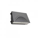 100W Full Cut-Off LED Wall Pack w/ 0 Deg Backup & Sensor, 120V-277V, Selectable CCT