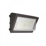50W Semi Cut-Off LED Wall Pack w/ 0 Deg Backup & Sensor, 250W MH Retrofit, 7065 lm, 5000K