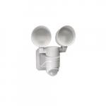1.7W LED Dual Head Emergency Motion Sensor Security Light, 100V-300V