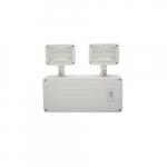 4.5W LED Dual Head Emergency Light, 190 lm, 120V-277V, White