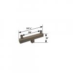 Square Bracket, (2) 4-In Tenon Arm, 180 Degree Angle, Bronze