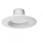 13W 6 Inch LED Downlight Residential Retrofit, 5000K, White Finish