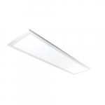 30W 1x4-ft Edge Lit LED Flat Panel w/Battery Backup, 0-10V Dim, 3580 lm, 5000K