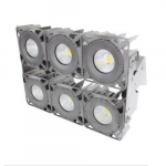 630W LED Stadium Light w/Pole Mounting Bracket, 5000K, 347-480V