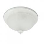 24W Decorative LED Flush Mount Ceiling Light, Dimmable, 2700K, White