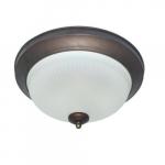 24W Decorative LED Flush Mount Ceiling Light, Dimmable, 2700K, Bronze