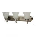 30W LED Vanity Light Fixture, 3 Light, 2400 lm, 2700K, Nickel