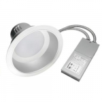 8-In 40W LED Commercial Downlight, 0-10V Dim, 2 x 32W PL Retrofit, 3234 lm, 3000K