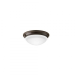 14W LED Flush Mount Ceiling Fixture, 60W Inc Retrofit, Dim, 996 lm, 2700K