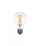 8.5W LED Edison Bulb with Clear Glass, E26 Base, DImmable, 2700K