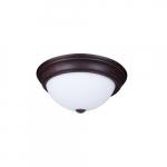 "15"" 25W Traditional LED Ceiling Light, 100W Inc. Retrofit, 1755 lm, 120V, 2700K, Bronze"