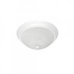 "15"" 25W Traditional LED Ceiling Light, 100W Inc. Retrofit, 1755 lm, 120V, 2700K, White"