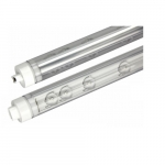 23W 4 Ft Double Sided LED T8 Tube, Ballast Bypass, Clear Lens, 6500K