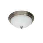 24W LED Flush Mount Ceiling Fixture, 100W Inc Retrofit, Dim, 1650 lm, 3000K