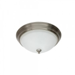 16.1W LED Flush Mount Ceiling Fixture, Dimmable, 1260 lm, 3000K, Brushed Nickel
