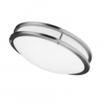 "24W 16"" Decorative LED Ceiling Fixture, Dimmable, 3000K, Brushed Nickel"
