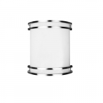 10.5-in 23W LED Architectural Wall Sconce, 1891 lm, 120V, 2700K, Nickel