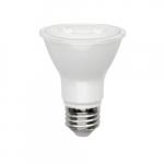 7W LED PAR20 Bulb, 0-10V Dimmable, 500 lm, Narrow Flood, 2700K
