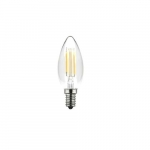 4W LED Filament B10 Bulb, 40W Inc. Retrofit, Dim, E12, 330 lm, 2700K, Clear